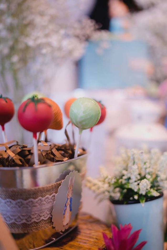 Garden Cake Pops from a Peter Rabbit Birthday Party on Kara's Party Ideas | KarasPartyIdeas.com (20)
