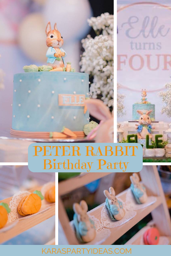 Peter Rabbit Birthday Party via Kara's Party Ideas - KarasPartyIdeas.com