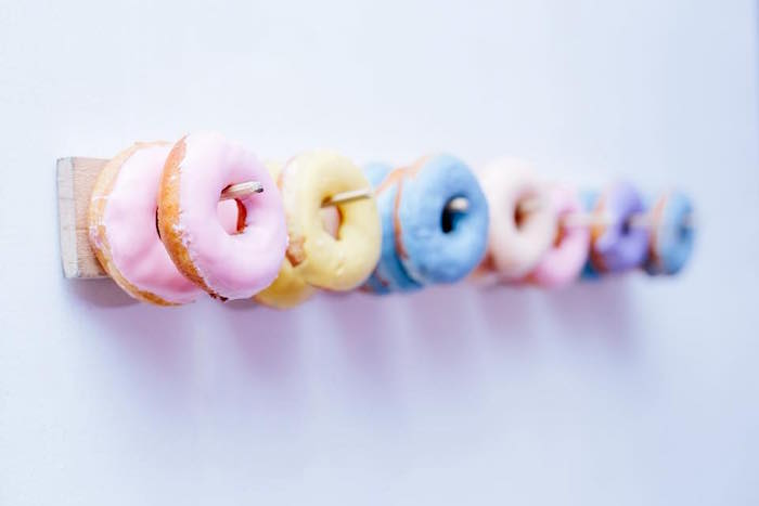 Pastel Donuts on Peg Boards from a Picnic Birthday Party on Kara's Party Ideas | KarasPartyIdeas.com (15)