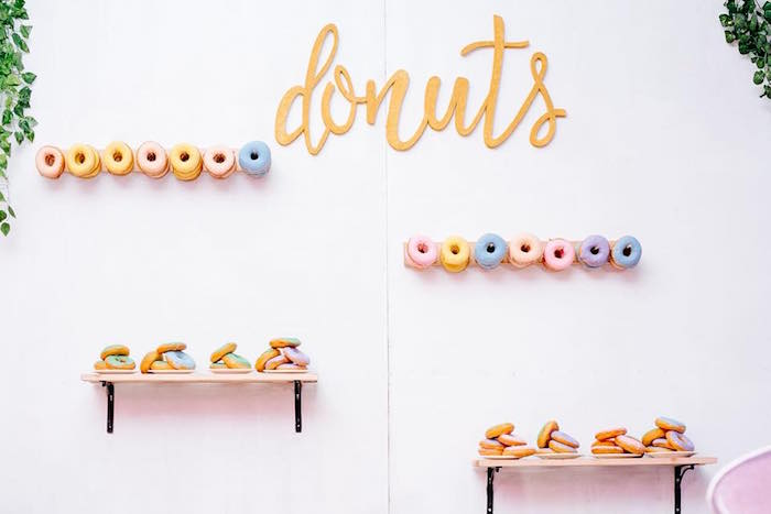 Donut Wall from a Picnic Birthday Party on Kara's Party Ideas | KarasPartyIdeas.com (12)