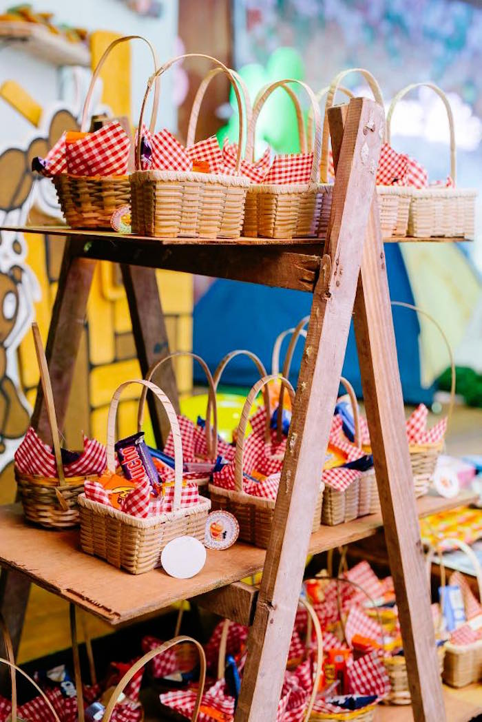 Picnic Basket Favors from a Picnic Birthday Party on Kara's Party Ideas | KarasPartyIdeas.com (7)