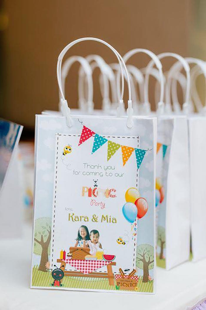 Picnic Themed Favor Sacks from a Picnic Birthday Party on Kara's Party Ideas | KarasPartyIdeas.com (24)