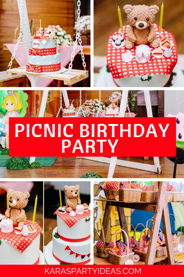 Picnic Birthday Party via Kara's Party Ideas - KarasPartyIdeas.com