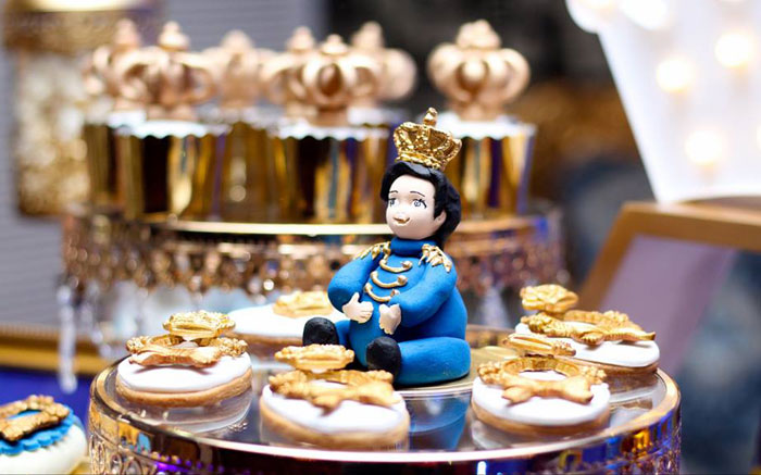 Prince Cookies from a Royal Prince Birthday Party on Kara's Party Ideas | KarasPartyIdeas.com (18)