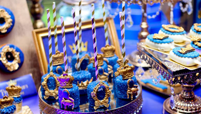 Royal Marshmallow Pops from a Royal Prince Birthday Party on Kara's Party Ideas | KarasPartyIdeas.com (17)