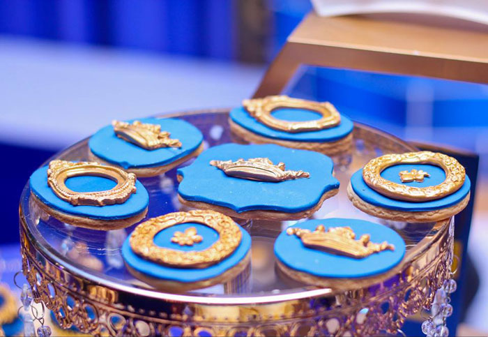 Royal Prince Themed Cookies from a Royal Prince Birthday Party on Kara's Party Ideas | KarasPartyIdeas.com (9)