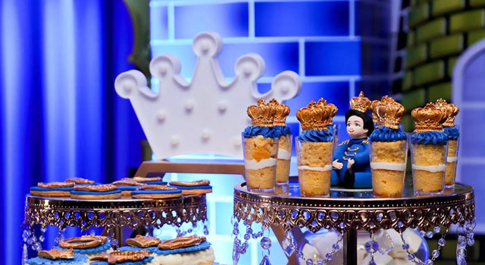 Crown-topped Dessert Shooters from a Royal Prince Birthday Party on Kara's Party Ideas | KarasPartyIdeas.com (7)