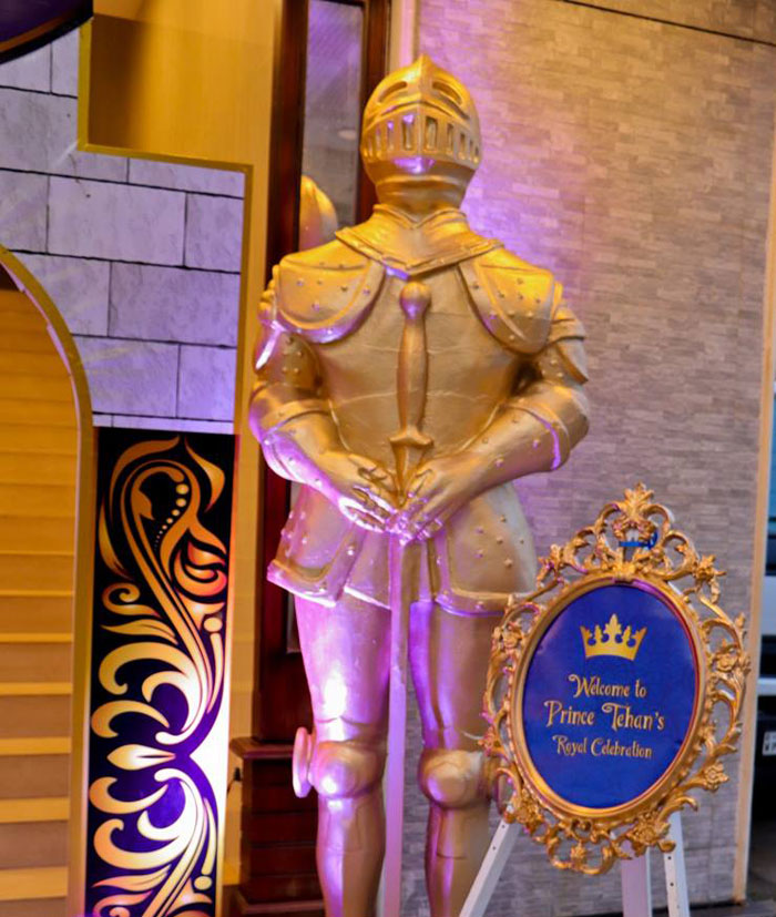 Royal Guard Standee from a Royal Prince Birthday Party on Kara's Party Ideas | KarasPartyIdeas.com (5)