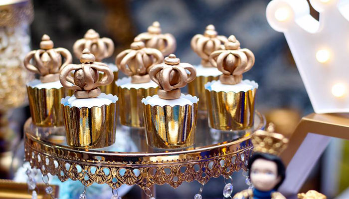Crowned Cupcakes from a Royal Prince Birthday Party on Kara's Party Ideas | KarasPartyIdeas.com (4)