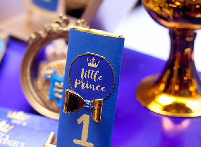 Little Prince Candy Bar from a Royal Prince Birthday Party on Kara's Party Ideas | KarasPartyIdeas.com (23)
