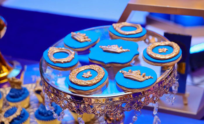 Royal Prince Themed Cookies from a Royal Prince Birthday Party on Kara's Party Ideas | KarasPartyIdeas.com (21)