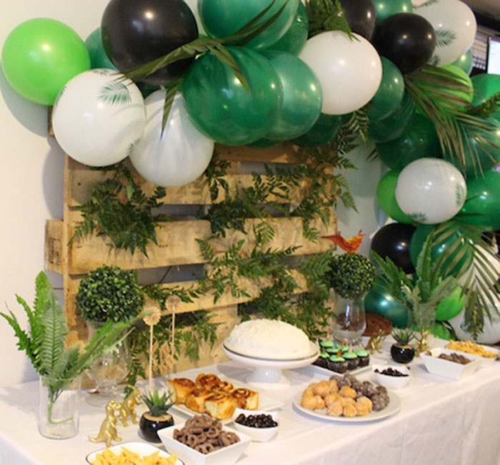 Dinosaur Dessert Table from a Rustic Dinosaur Birthday Party on Kara's Party Ideas | KarasPartyIdeas.com (14)