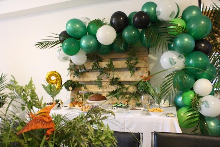 Dinosaur Themed Dessert Table from a Rustic Dinosaur Birthday Party on Kara's Party Ideas | KarasPartyIdeas.com (8)