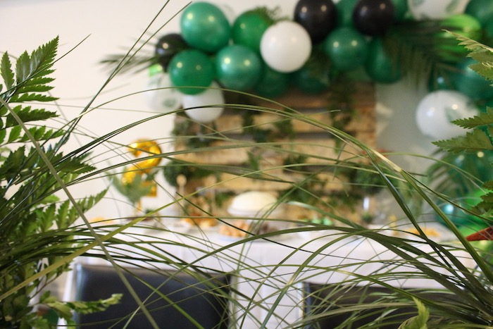 Green Foliage from a Rustic Dinosaur Birthday Party on Kara's Party Ideas | KarasPartyIdeas.com (6)