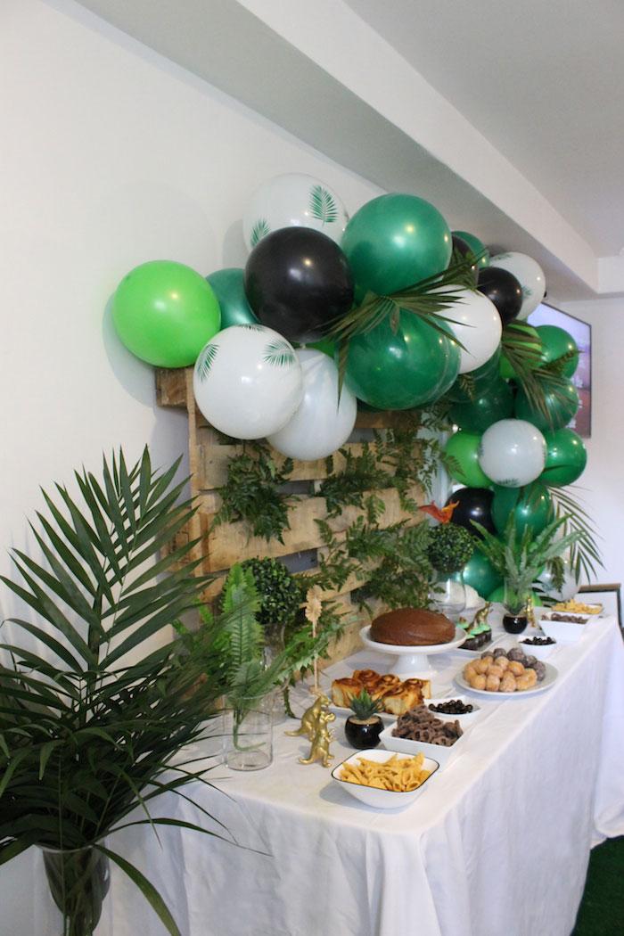 Dinosaur Dessert Table from a Rustic Dinosaur Birthday Party on Kara's Party Ideas | KarasPartyIdeas.com (3)