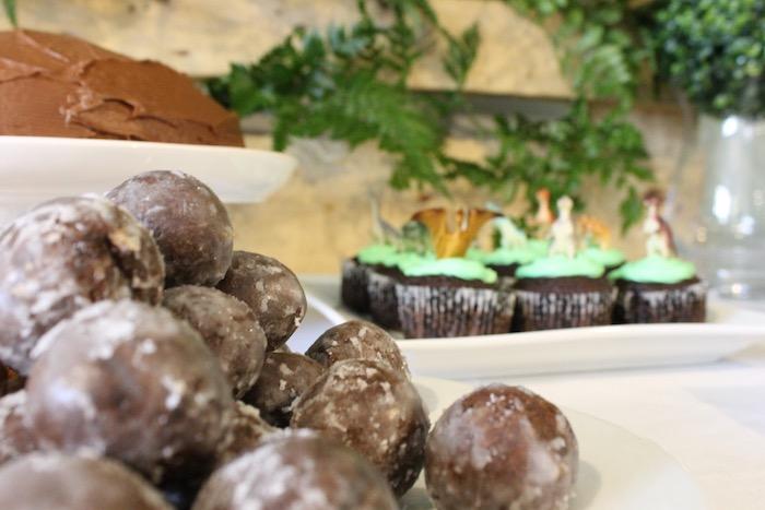 Boulder Dessert Balls from a Rustic Dinosaur Birthday Party on Kara's Party Ideas | KarasPartyIdeas.com (19)