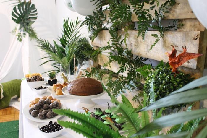 Dinosaur Dessert Table from a Rustic Dinosaur Birthday Party on Kara's Party Ideas | KarasPartyIdeas.com (18)