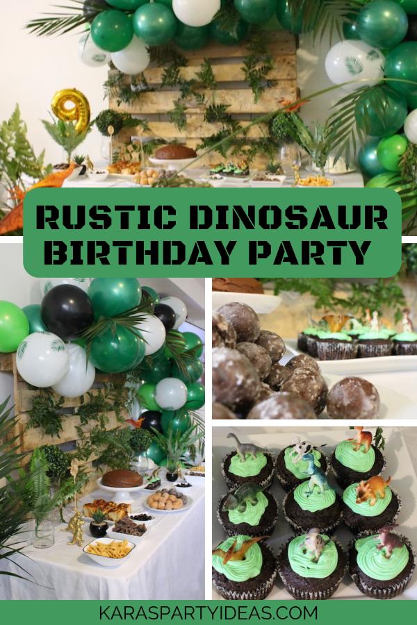 Rustic Dinosaur Birthday Party via Kara's Party Ideas - KarasPartyIdeas.com
