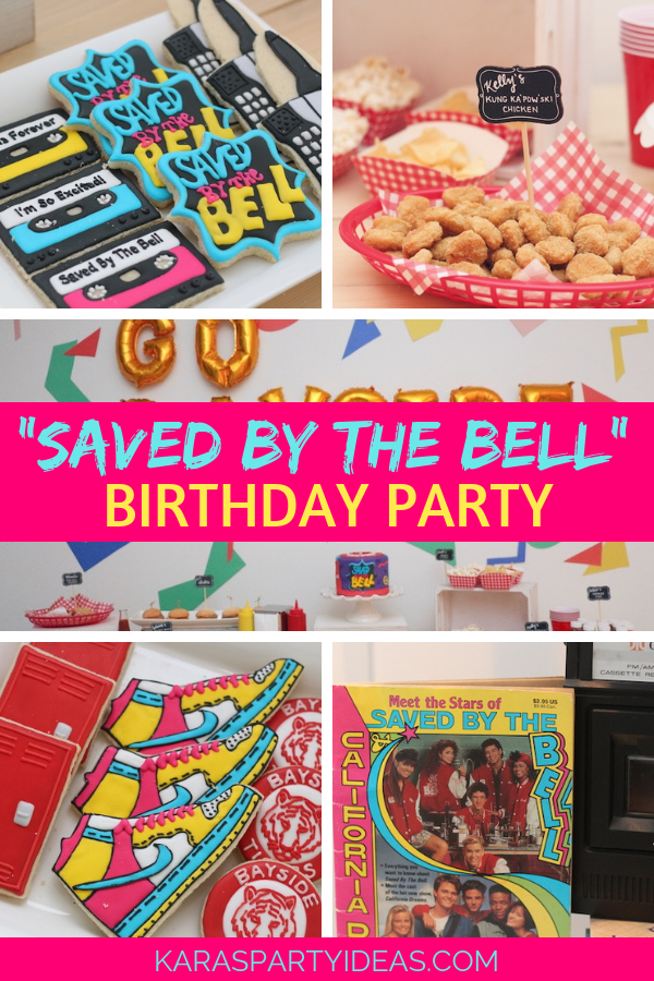 Saved by The Bell Birthday Party via Kara's Party Ideas - KarasPartyIdeas