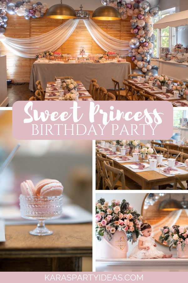 Sweet Princess Birthday Party via Kara's Party Ideas - KarasPartyIdeas.com