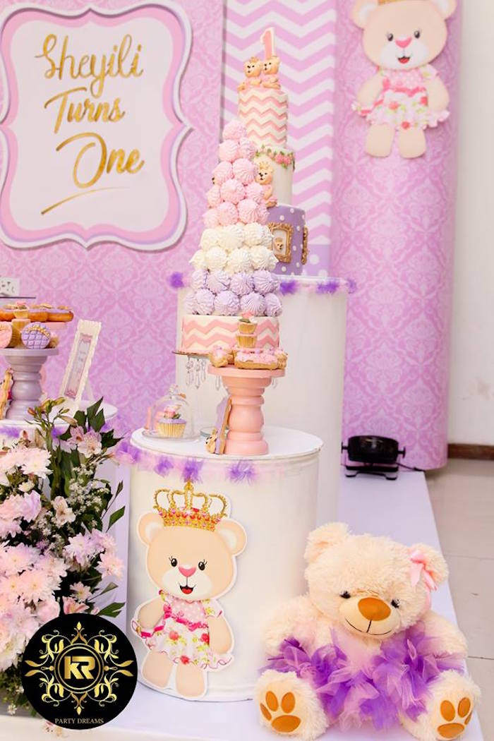 Teddy Bear Princess Party on Kara's Party Ideas | KarasPartyIdeas.com (12)
