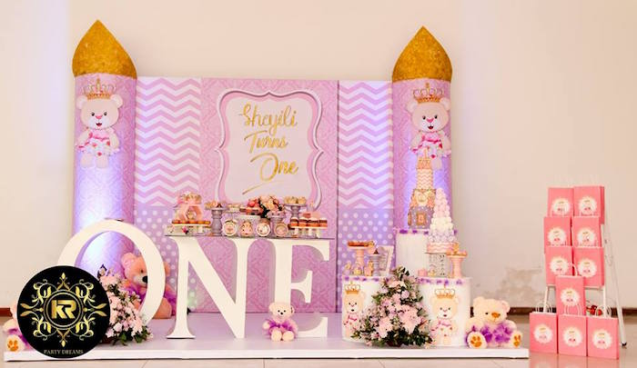 Teddy Bear Princess Party on Kara's Party Ideas | KarasPartyIdeas.com (2)