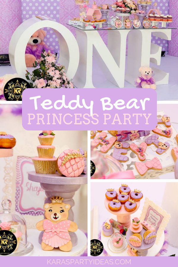 Teddy Bear Princess Party via Kara's Party Ideas - KarasPartyIdeas.com