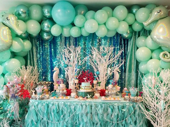 Under the Sea Dessert Table from an Under the Sea Birthday Party on Kara's Party Ideas | KarasPartyIdeas.com (5)
