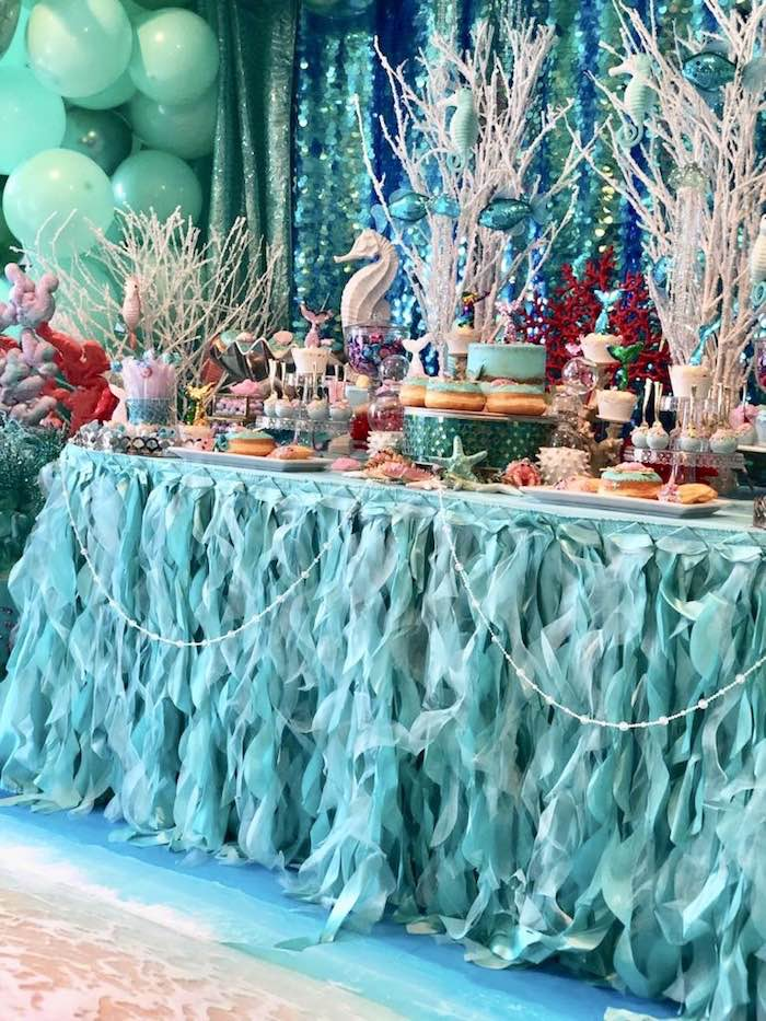 Under the Sea Dessert Table from an Under the Sea Birthday Party on Kara's Party Ideas | KarasPartyIdeas.com (16)