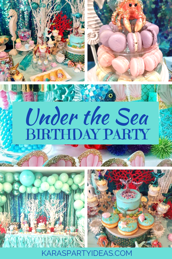 Under the Sea Birthday Party via Kara's Party Ideas - KarasPartyIdeas.com