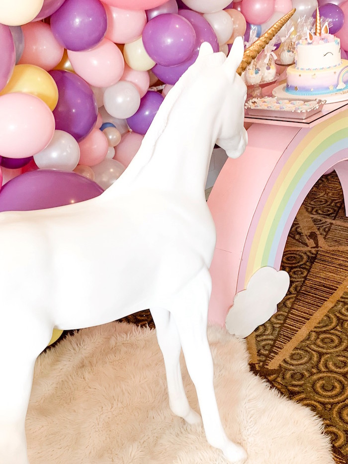 Life-sized Unicorn Prop from a Unicorn Baby Shower on Kara's Party Ideas | KarasPartyIdeas.com (10)