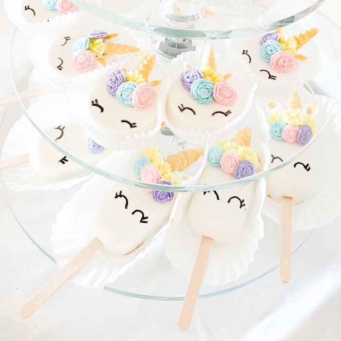 Unicorn Cake Pops & Oreos from a Unicorn Baby Shower on Kara's Party Ideas | KarasPartyIdeas.com (7)