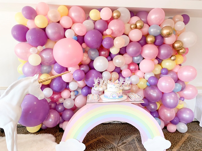 Unicorn Themed Dessert Table from a Unicorn Baby Shower on Kara's Party Ideas | KarasPartyIdeas.com (5)