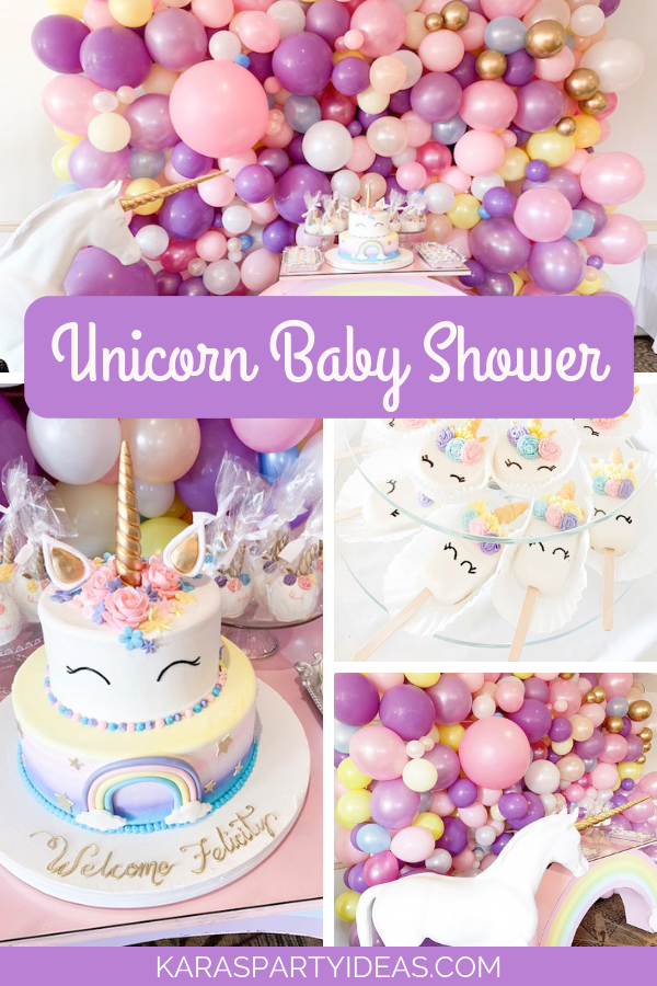 Unicorn Baby Shower via Kara's Party Ideas - KarasPartyIdeas.com