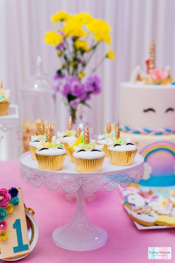 Unicorn Cupcakes from a Unicorn Birthday Party on Kara's Party Ideas | KarasPartyIdeas.com (18)