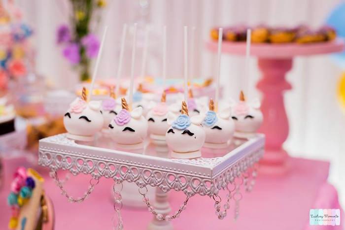 Unicorn Cake Pops from a Unicorn Birthday Party on Kara's Party Ideas | KarasPartyIdeas.com (15)