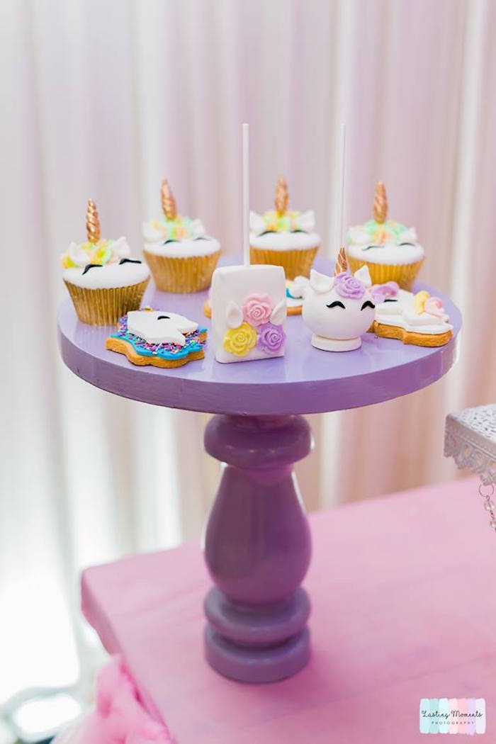 Unicorn-inspired Sweets from a Unicorn Birthday Party on Kara's Party Ideas | KarasPartyIdeas.com (14)