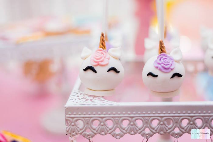 Unicorn Cake Pops from a Unicorn Birthday Party on Kara's Party Ideas | KarasPartyIdeas.com (27)
