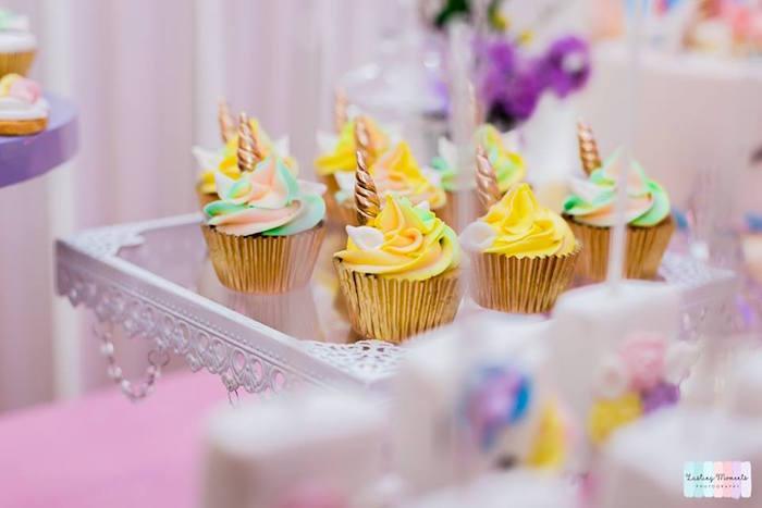 Unicorn Cupcakes from a Unicorn Birthday Party on Kara's Party Ideas | KarasPartyIdeas.com (24)