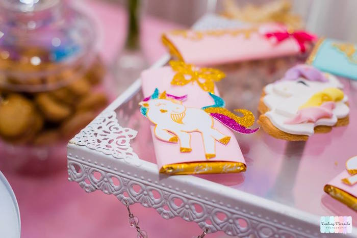 Unicorn-labeled Candy Bar from a Unicorn Birthday Party on Kara's Party Ideas | KarasPartyIdeas.com (20)