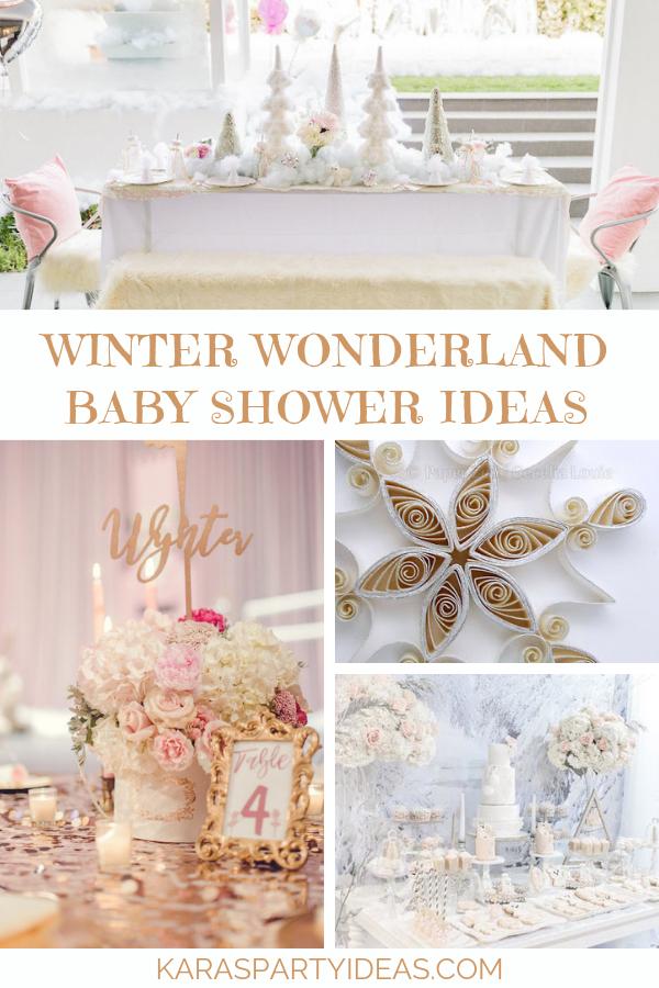 Winter Wonderland Baby Shower Ideas via Kara's Party Ideas - KarasPartyIdeas.com