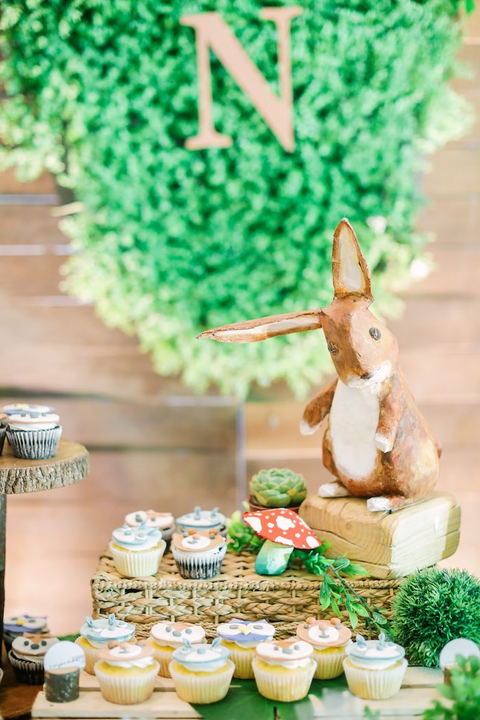 Rabbit Decoration from a Woodland 1st Birthday Party on Kara's Party Ideas | KarasPartyIdeas.com (6)