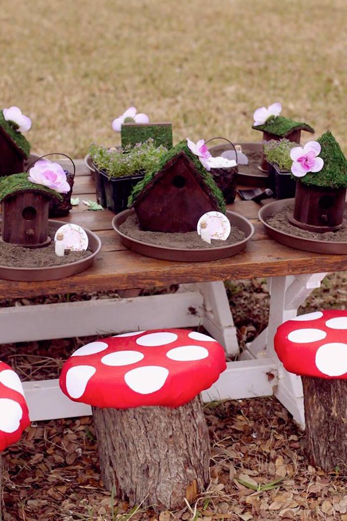 Fairy House Decorating Activity from a Woodland Fairy Party on Kara's Party Ideas | KarasPartyIdeas.com (35)