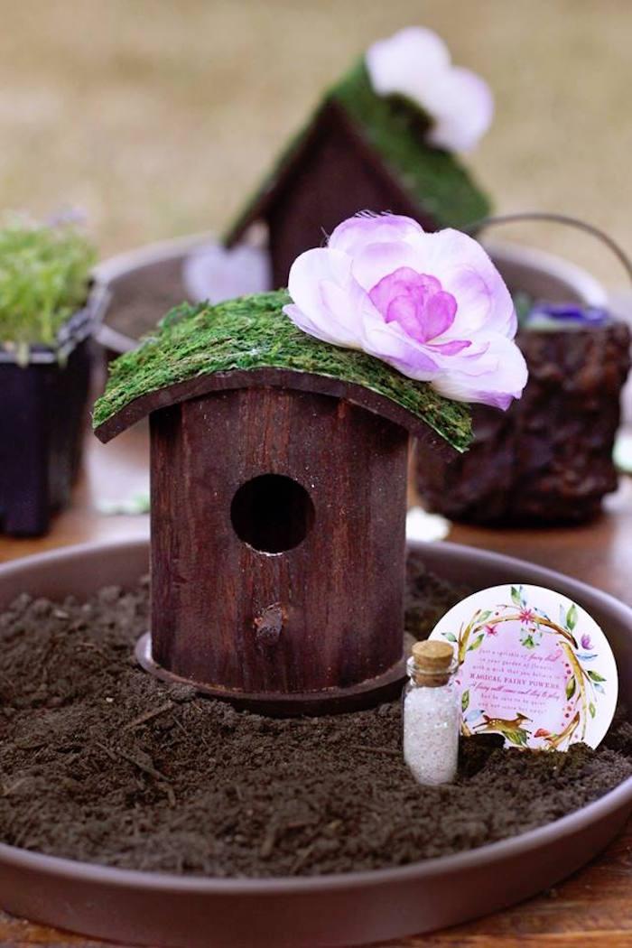 Fairy House from a Woodland Fairy Party on Kara's Party Ideas | KarasPartyIdeas.com (32)