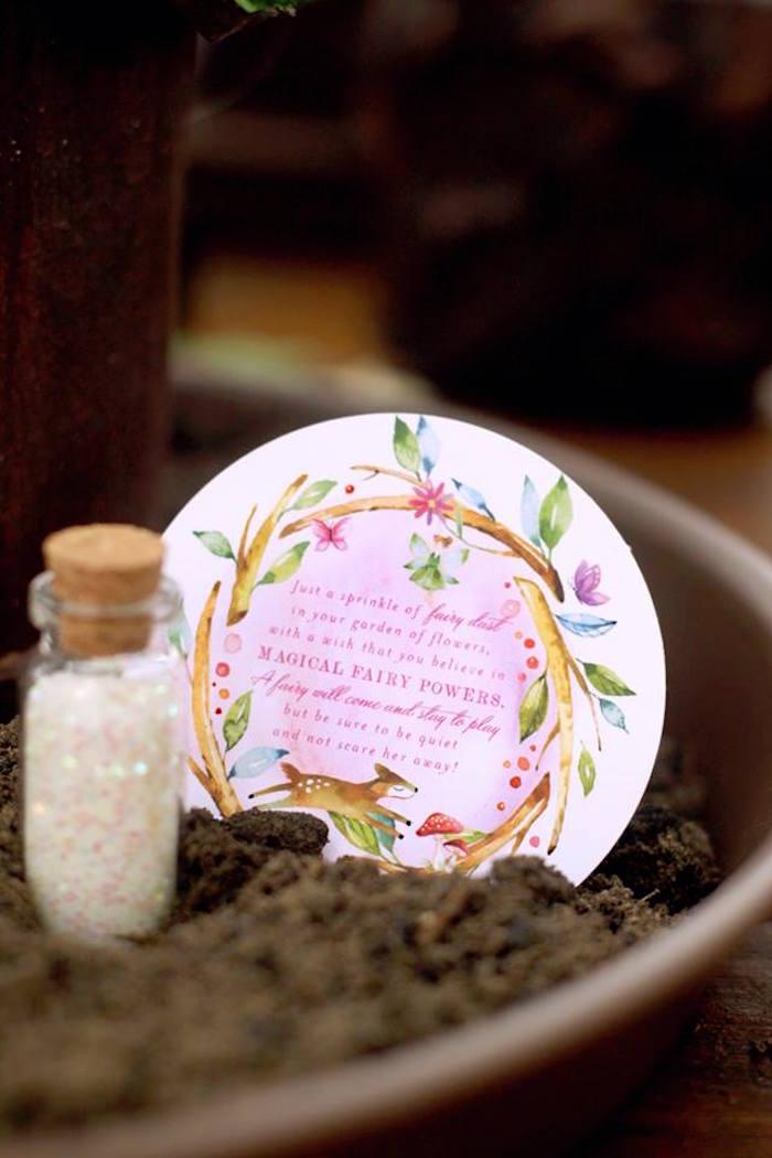 Fairy Dust from a Woodland Fairy Party on Kara's Party Ideas | KarasPartyIdeas.com (30)