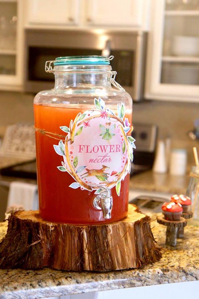 Flower Nectar from a Woodland Fairy Party on Kara's Party Ideas | KarasPartyIdeas.com (25)
