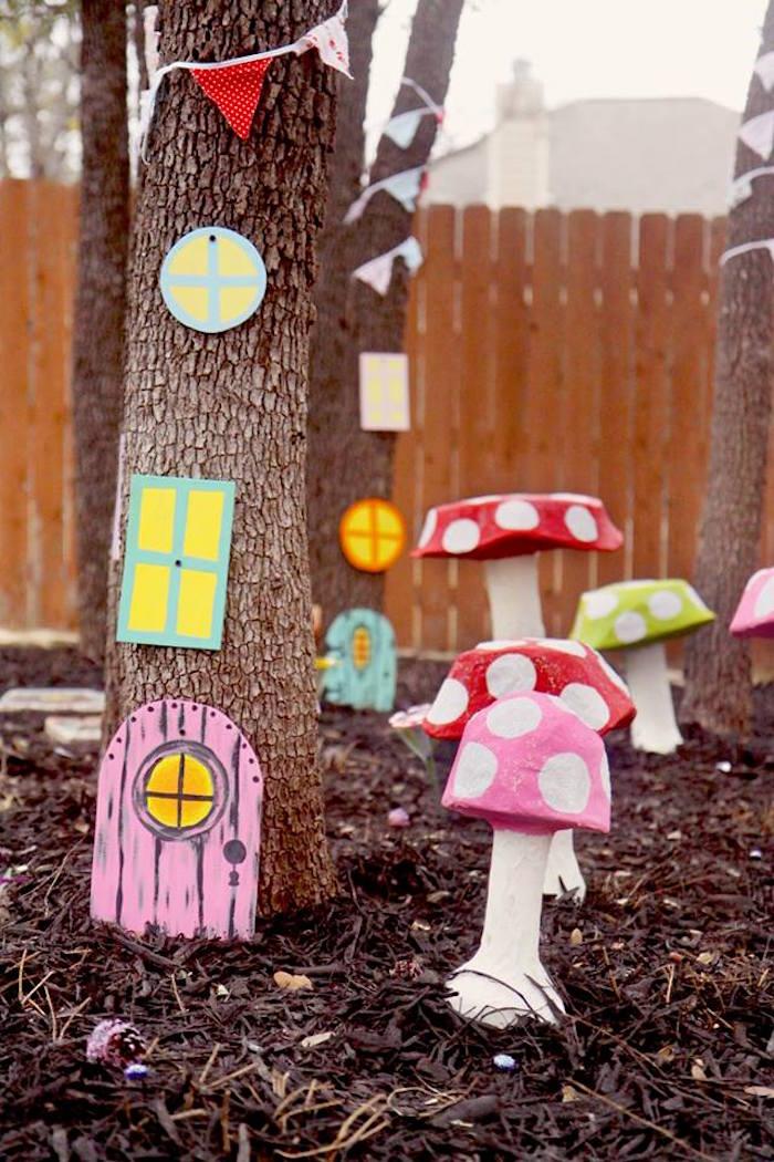 Fairy Lane from a Woodland Fairy Party on Kara's Party Ideas | KarasPartyIdeas.com (24)