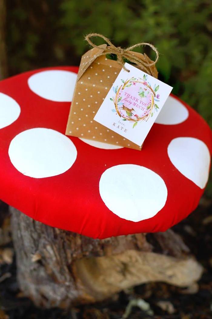Polkadot Favor Box from a Woodland Fairy Party on Kara's Party Ideas | KarasPartyIdeas.com (23)