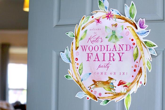 Woodland Fairy Sign from a Woodland Fairy Party on Kara's Party Ideas | KarasPartyIdeas.com (20)