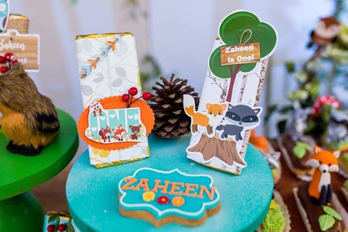 Woodland Candy Bars from a Woodland Wonder Birthday Party on Kara's Party Ideas | KarasPartyIdeas.com (17)